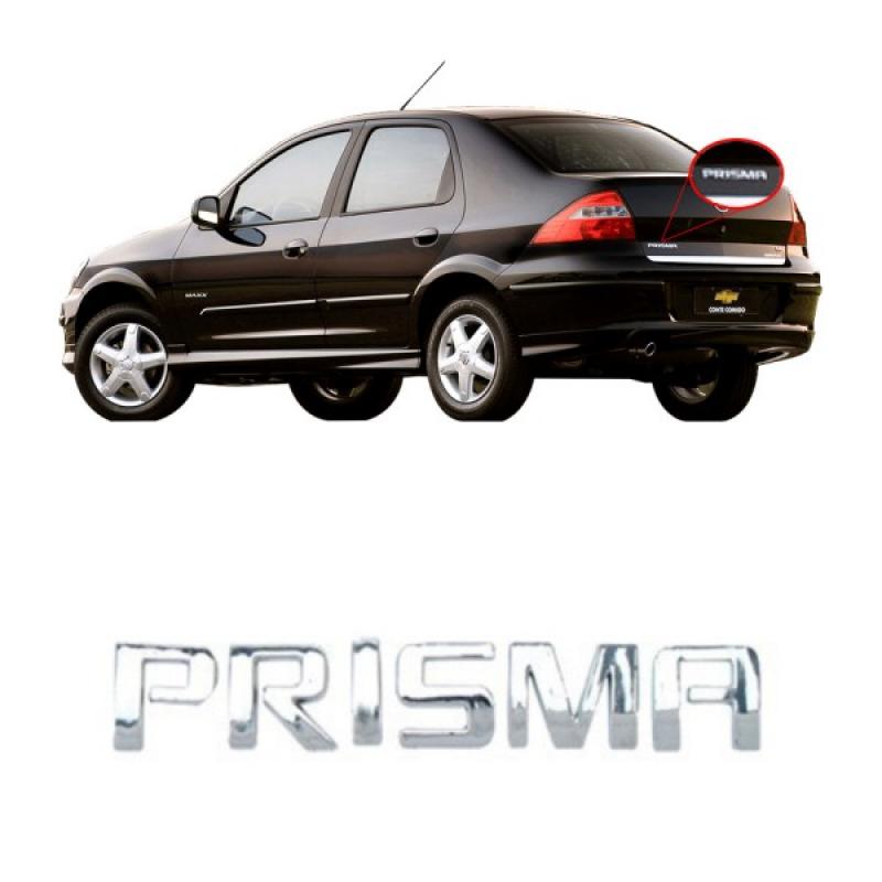 EMBLEMA PRISMA TRASEIRO DA TAMPA DO PORTA MALA PRISMA 2007 A 2012