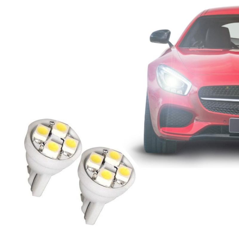 LAMPADA LED ESMAGADA PINGAO 4 LEDS 12V SUPER BRANCA PAR